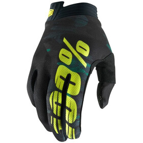 100% iTrack Gloves Youths Camo Black/Green